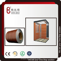 CHINA superior quality High gloss laminated steel for elevator wall panel