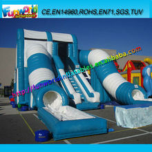 New Commercial Inflatable Wild Tunnel Water Slide with Pool, Lake Inflatable Slide For Hire