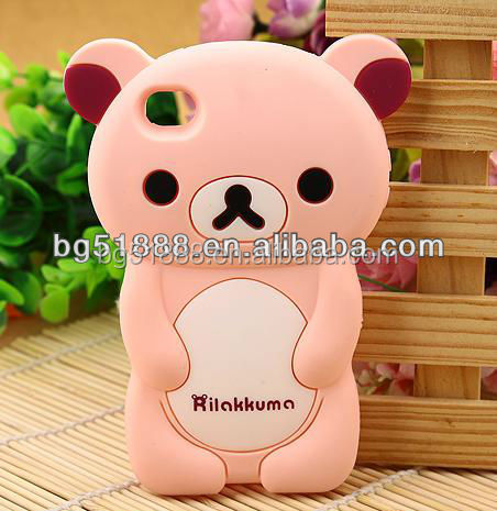 New design christmas gift kids silicone small mobile phone case cover,rubber silicone mobile phone case