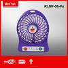 RLMF-06-Pu 2015 portable cooling fan with light usb line
