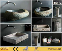 Classical carved marble antique natural stone sink basin