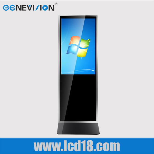Luxury floor 42 inch LCD loop video player lcd glass touch screen windows system internet media advertising display