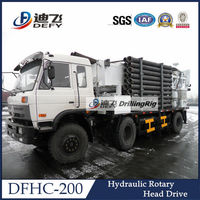 With Power Head DFHC-200 Truck Mounted Water Well Drilling Rig