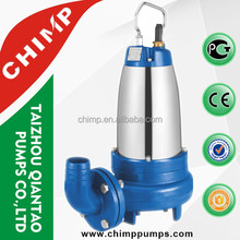 CHIMP WQK SERIES three phase 7.5HP Strong cutting system Sewage Grander Submersible Water Pump