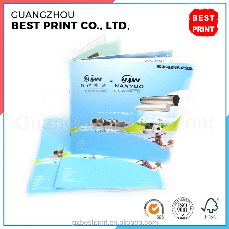 High quality silver stamp brochure hard cover paperback magazine custom cardboard book printing