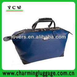 blue leather waterproof golf travel bag
