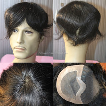 Wholesale Price Best Quality Natural Hair Line Lace Front Men's Toupee