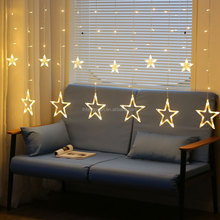Star Curtain Lights/Window Curtain Fairy String Lights for Festival Christmas/Wedding/Party/Garden Decorations