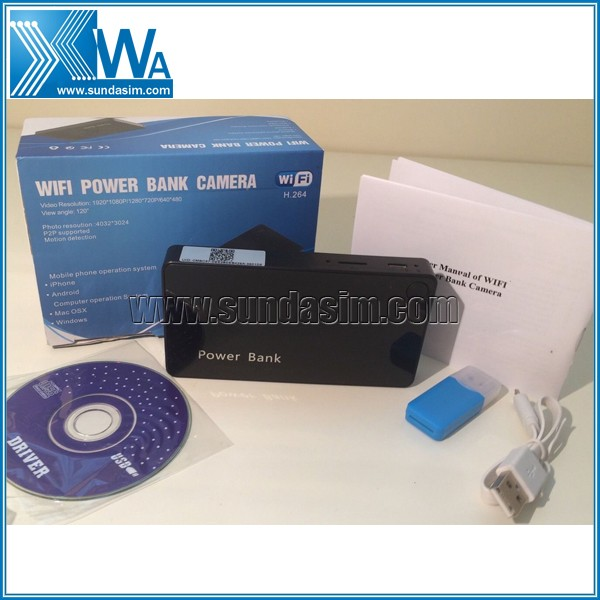WIFI 1080P Mobile Powerbank Camera IP Camera Video Recorder Portable