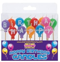Multi Colour Balloon Birthday Candle Set