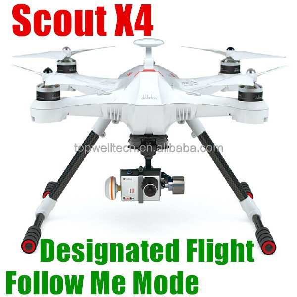 New 2015 Scout X4 2.4G RC hobby wifi 8 motors 1080P 3-Axle gimbal android drone