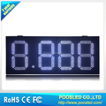 12 inch White Color 8.888 Iron Cabinet LED GAS PRICE SIGN