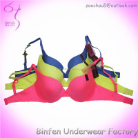 Seamless Ladies Push Up Bright Color Laser Cut Secret Bonded Bra