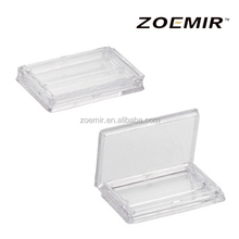 White transparent handheld empty plastic case for eyelashes