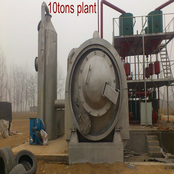 plastic Pyrolysis/Recycling Machine Also Process Plastic Waste to Crude Oil no pollution