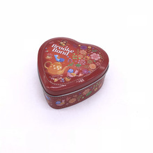 Custom LFGB Test Tea Tin Full Embossed Heart Shaped Metal Tin Box