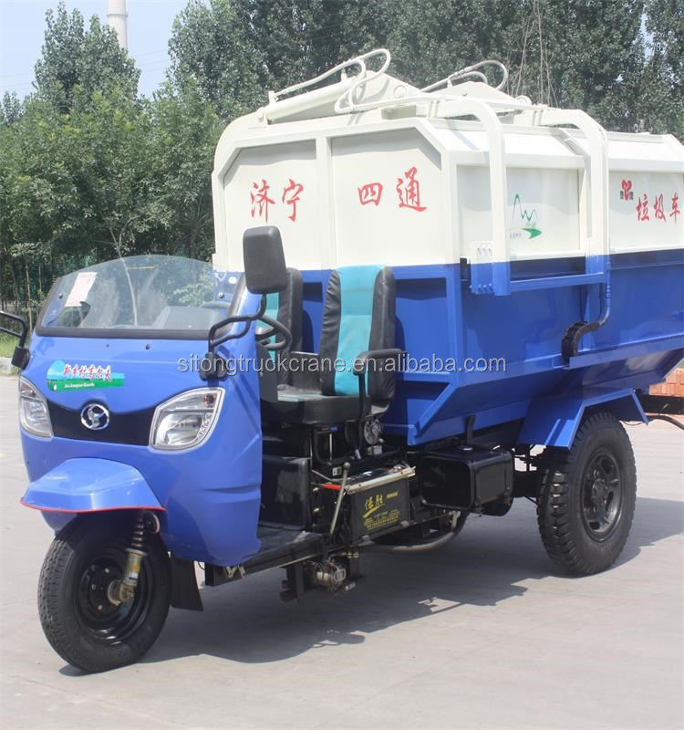 LUYING Brand 4 cbm Small Garbage Truck