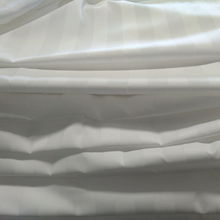 250T satin stripe polyester cotton percale hotel bedding fabric