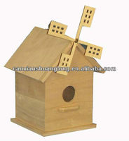 Charming Hanging Home Garden Unfinished Wooden Bird House Decorative Birdhouse