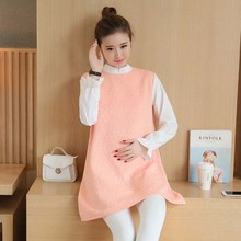 High quality false two pieces maternity dress wholesale in 2017 Korean fashion lovely dress for women