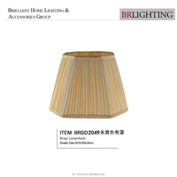 polygonal pleated beige fabric lamp shade table lamp shade floor lamp shade