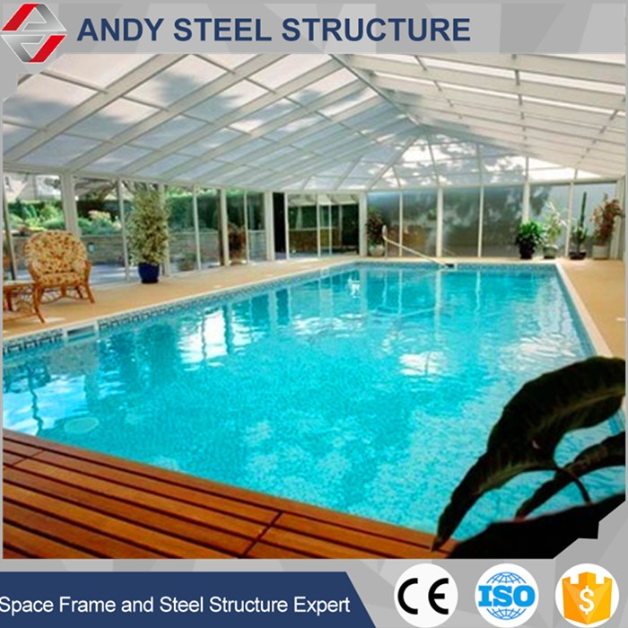 High Quality Prefab steel structure shed swimming pool cover