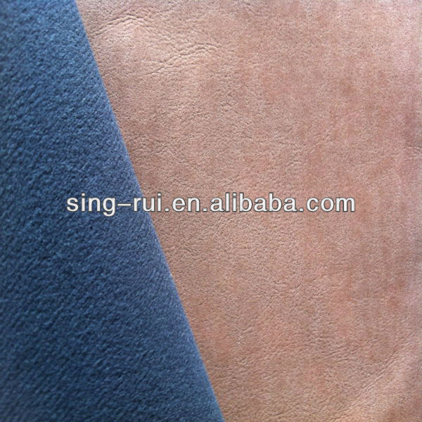 100% pu/synthetic yangbuck leather for shoes upper