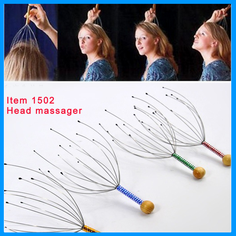 high quality plastic octopus head massager