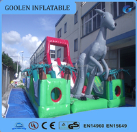 2015 cute funny high-quality kangaroo inflatable obsatcle course