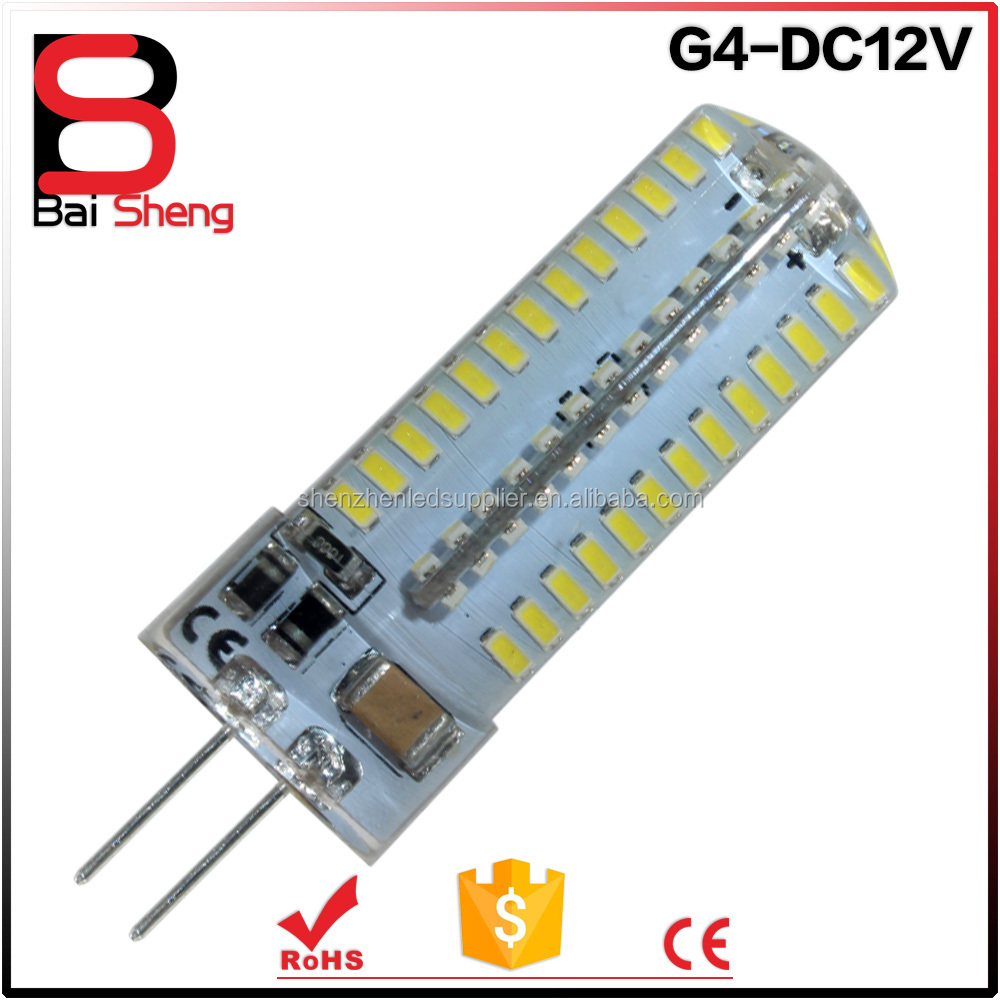 factory price G4 LED 3W 4W 5W 6W 9W G4 SMD 3014 LED Crystal lamp light DC 12V / AC 220V Silicone Body LED Bulb