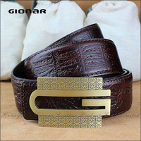 Luxury Good Quality Leather Belt Manufacturing Machine Magnetic Men's Belt