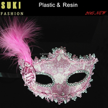 Wholesale party christmas dance mask feather plating colors beauty mask