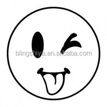 New material smile face wholesale heat transfer vinyl for t-shirts