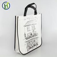 2017 BSCI Audited Factory Wholesale Price Custom Printed Eco Friendly Recycle Reusable PP Laminated Non Woven Tote Shopping Bags