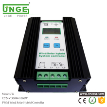 JNGE factory direct sales 800w solar wind charge controller 12v 24v 500w wind generator charge controller and 300w solar panels