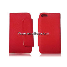 hot sell wallet leather case for iphone 5 with buisness cards