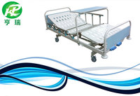 Manual 2 cranks hospital bed comfortable medical care bed