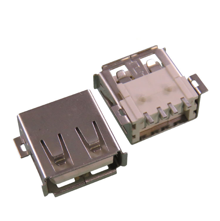 USB female seat AF SMD connector Full SMD 1.0 mount <strong>hole</strong> 4PIN Flanged edge USB connector