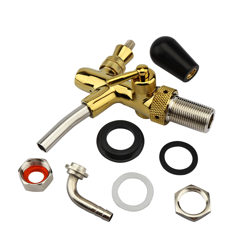 Homebrew Adjustable Beer Tap Faucet with Chrome Gold Plating Draft Tap