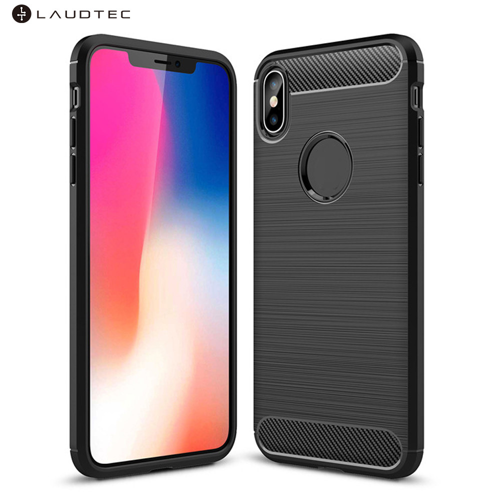 Carbon Fiber Soft Tpu Back Cover Phone Case For Iphone Xs <strong>Max</strong>
