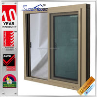 Australia AS2047 Standard commercial interior double glass reception sliding window and door