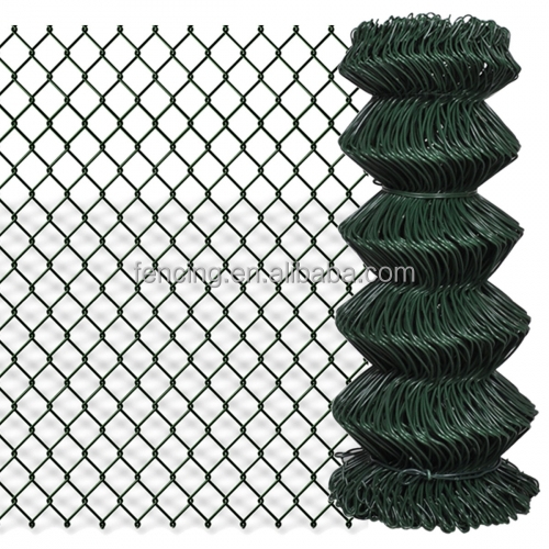 Green Vinyl Coated Chain Link Fence Screen for Tennis Court