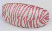 YT3060 Cool pink zebra pattern leather sunglasses case