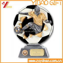 New High quality Polyresin/Metal material custom shape and custom 2D/3D Trophy