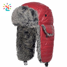 Sheepskin Winter Fur Animal Hat Fashion red Russian Fur military Hat Pattern russian ushanka hat