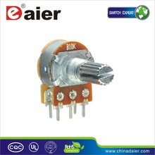 WH148-1AK-1 Dual double rotary 10k linear potentiometer 6 pin with switch