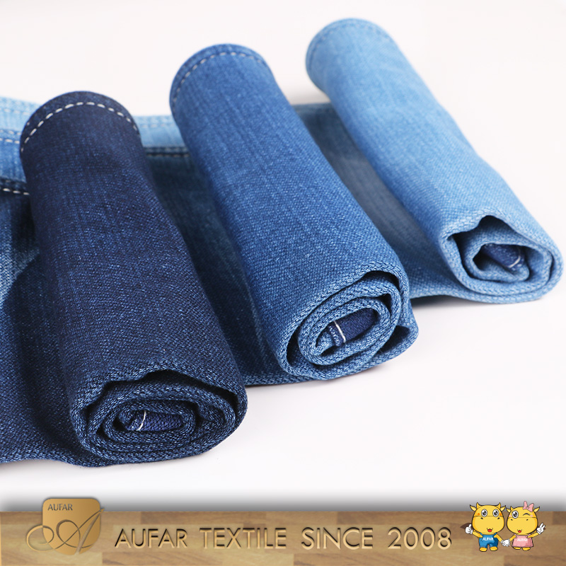 Made in china raw for importer material leggings jeans quality recycled cotton denim fabric