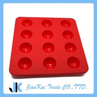 12- Cavity Small Ball Shape Silicone Ice Cube Tray With Leak Proof Design