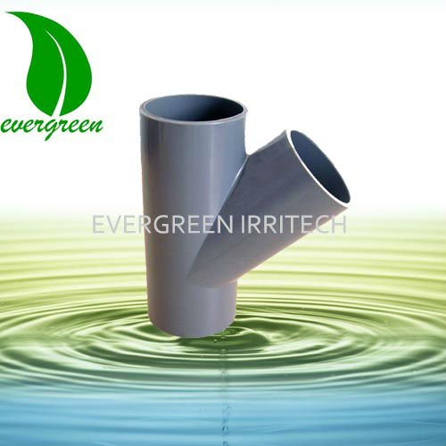 PVC 45 degree equal pipe fitting tee