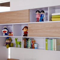 bamboo baby furniture children furniture bed with book shelf Italian design